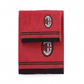 Set bagno A.C. Milan Calcio 2 Asciugamani Piccolo E Grande PS 01716 Pelusciamo Store Marchirolo