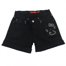 Shorts Donna Hello Kitty con Borchie, Pantaloncini Sanrio | pelusciamo.com