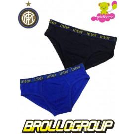 Set 2 Slip Bambino Fc Internazionale abbigliamento intimo mutande Inter *03248