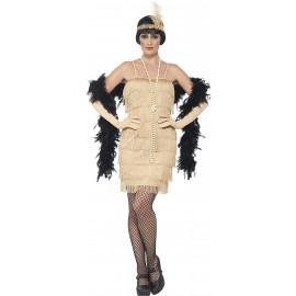 Costume Carnevale Donna Charleston Gold Flapper Gonna Corta PS 25332 Pelusciamo Store Marchirolo
