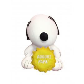 Peluche Snoopy microfibra auguri papa Antistress 30 cm *07250 pelusciamo store
