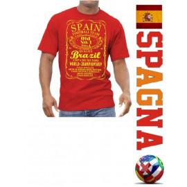 T-shirt nazionale spagnola maglietta mondiali 2014 Brasile Brazil *18133