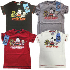 T-Shirt Bambino/a Hello Spank Band, Maglietta maniche corte cartoon R11230