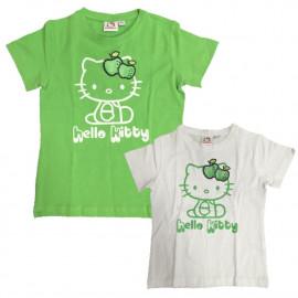 T-Shirt Bimba Hello Kitty Mela Glitter, Maglietta maniche corte Bambina | pelusciamo.com