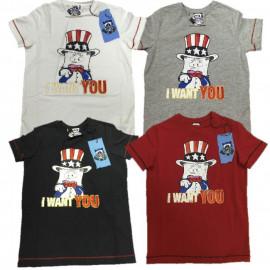 T-Shirt Hello Spank I Want You, Maglietta maniche corte Ragazzo PS 11508