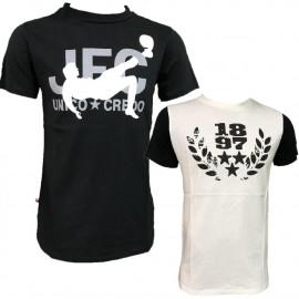 T-shirt Juventus Bianca o Nera JFC 1897 Logo Storico Juve PS 27015 Pelusciamo Store Marchirolo