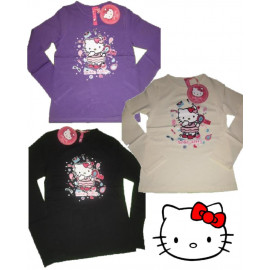 T-Shirt Donna maglia manica Lunga Hello Kitty Trucchi *06908