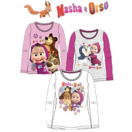 T-shirt maglietta Bimba Masha e Orso *21696 Maglia Manica lunga | Pelusciamo.com