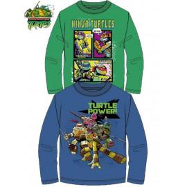 T-shirt maglietta bambino Tartarughe Ninja *21772 Maglia Manica lunga | Pelusciamo.com