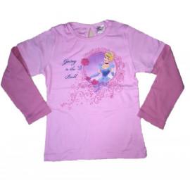 T-shirt maglia rosa manica lunga principessa Disney *01708