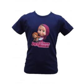 T-shirt maglietta Bimba Masha e Orso R21195 Maglia Manica Corta