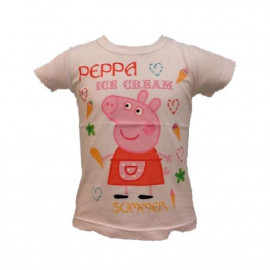 T-Shirt Bambina Peppa Pig, Maglietta a Maniche corte Bimba Bianca | pelusciamo.com
