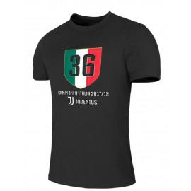 T-shirt Juventus Campioni d'Italia 2017 2018 36° Scudetto PS 27254 Pelusciamo Store Marchirolo