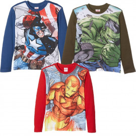 T-Shirt Bambino Hulk Iron Man Capitan America Avengers Marvel PS 25526