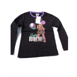 T-shirt Felpa maglia manica lunga Hannah Montana rock *13400