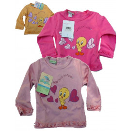 T-shirt maglietta manica lunga Titty girl Looney Tunes 13554 pelusciamo
