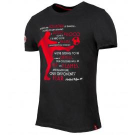 T-Shirt Milan Abbigliamento Ufficiale Calcio ACM Milan PS 26753 Pelusciamo Store Marchirolo