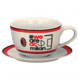 Tazza Colazione Con Piatto Milan Calcio Tifosi AC Milan PS 08843 Pelusciamo Store Marchirolo