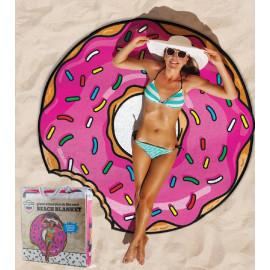Telo mare grande ciambella donut gigante 150 cm. *07814 accessori piscina mare pelusciamo store