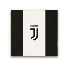 Confezione 20 Tovaglioli Carta Juventus JJ , Arredo Festa Juve Calcio| pelusciamo.com