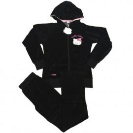 Tuta Invernale Hello Kitty Felpa con cappuccio e Zip e Pantalone | pelusciamo.com