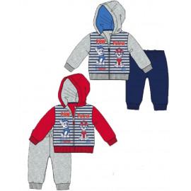 Tuta con zip neonato Paw Patrol cartoni animati cotone interlock *03740 pelusciamo store