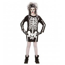 Costume Halloween Bimba e Ragazza, Vestito Scheletro PS 22035