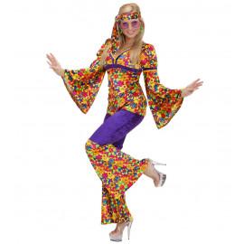 Costume Carnevale Donna Hippie Girl Anni 60,  Figli dei Fiori | Pelusciamo store