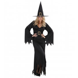 Costume Halloween Donna, Vestito Strega Elegante PS 21848