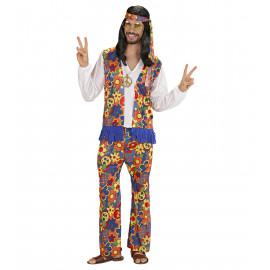 Costume Carnevale Uomo Hippie  anni 60    | Pelusciamo store