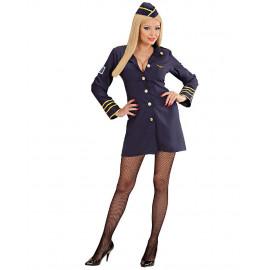 Costume Carnevale Donna Hostess Assistente Di Volo PS 22886