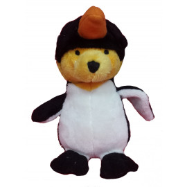 Peluche Winnie the Pooh travestito da pinguino 18 cm