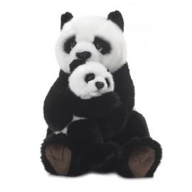 Peluche Panda Con Baby 28 cm peluches WWF PS 07207 pelusciamo store