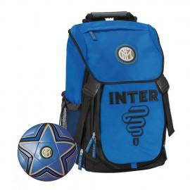 FC Internazionale Zaino Scuola + Pallone Calcio Inter Calcio PS 06600