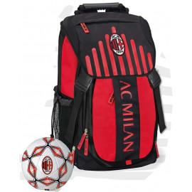 AC Milan Zaino Scuola + Pallone Calcio MILAN Calcio PS 06601