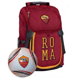 Zaino Scuola + Pallone Calcio Roma Calcio PS 06586 pelusciamo store