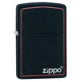 Accendino Zippo nero matte con logo  | pelusciamo store