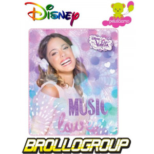 Plaid Disney Violetta love music 120x140 cm.  *01561 pelusciamo store
