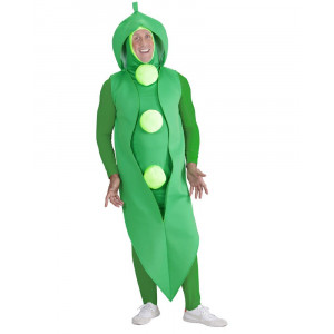 Costume Carnevale Uomo Pisello Verde PS 26318 Travestimento Pelusciamo Store Marchirolo