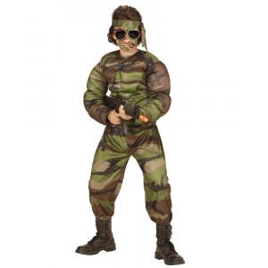 Costume Carnevale Bambino Soldato Muscoloro PS 26184 Pelusciamo store Marchirolo