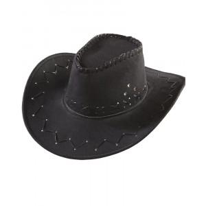 Cappello Cowboy Nero Accessori Costume Carnevale Uomo PS 10297 Pelusciamo Store Marchirolo