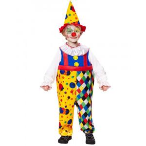 Costume Carnevale Bambino Clown Travestimento Pagliaccio PS 26375 Pelusciamo Store Marchirolo