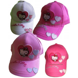 Cappellino con visiera baseball Hello Kitty Nel Cuore *08277