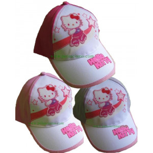 Cappellino baseball con visiera Bimba Hello Kitty pattini *08281
