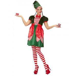 Costume Donna Natalizio Elfo Aiutante Babbo Natale PS 25874 Pelusciamo Store Marchirolo