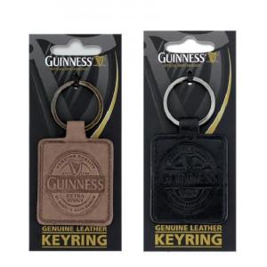 Idea regalo birra Guinness beer portachiavi logo in pelle *09178 gadget idea regalo