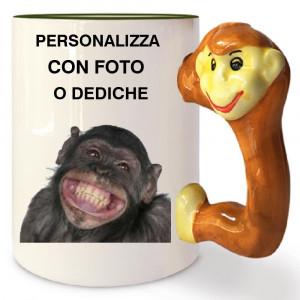 Tazza In Ceramica Scimmia Personalizzabile Foto Dediche PS 09347 Tazze Personalizzata Pelusciamo Store Marchirolo