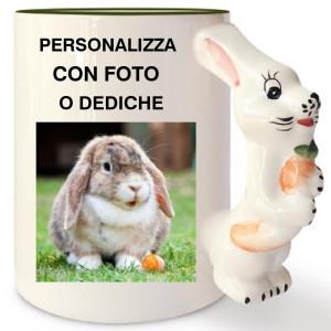 Tazza In Ceramica Coniglio Personalizzabile Foto Dediche PS 09350 Tazze Personalizzata Pelusciamo Store Marchirolo