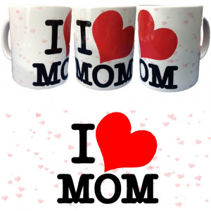 Tazza I Love Mom Tazze In Ceramica Festa Dela Mamma PS 09370-14