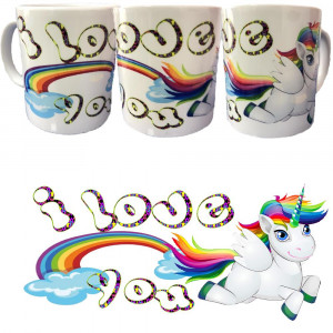 Tazza I Love You Unicorno Tazze In Ceramica Festa San Valentino PS 09370-16